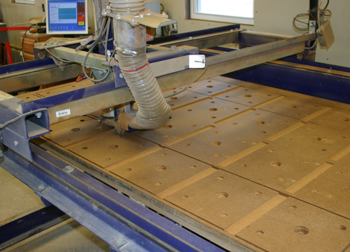 Railing cut on CNC router - each railing span a different length