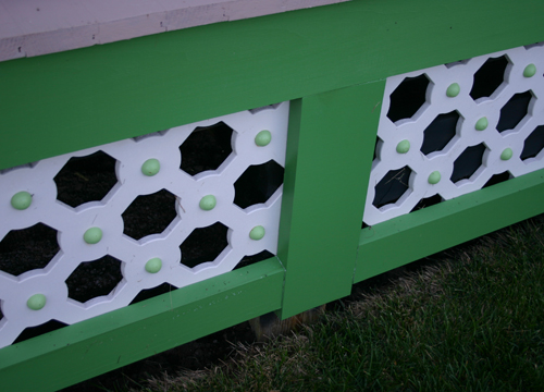 Completed painted porchskirts